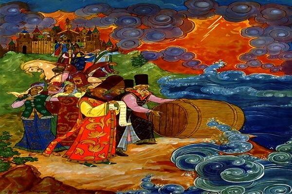 Иллюстрации Александра Михайловича Куркина к сказке Пушкина о царе Салтане