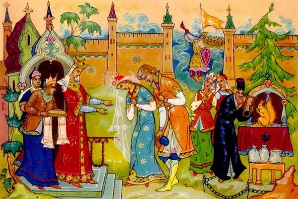 "Иллюстрации Александра Куркина к ""Сказке о царе Салтане"""