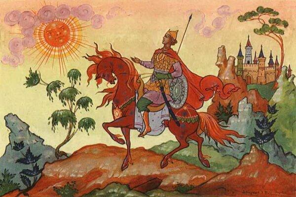 Самые известные иллюстрации к сказкам Пушкина - Царевич Елисей, художник Александр Куркин