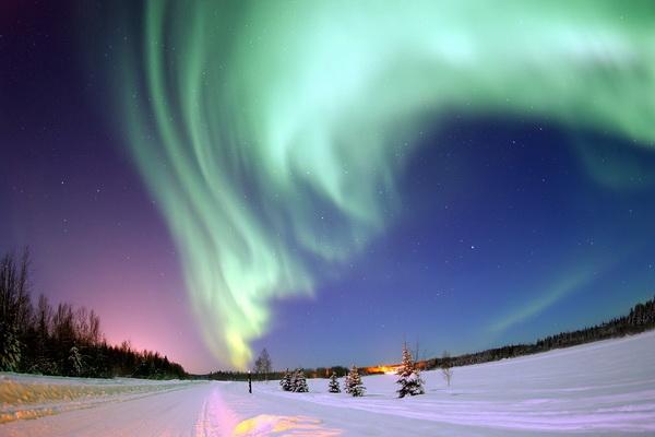 Где можно увидеть полярное сияние