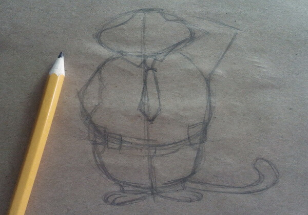 Рисунок Бенджамина Когтяузера поэтапно - шаг 3