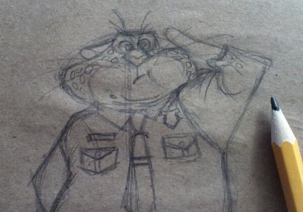 Рисунок Бенджамина Когтяузера поэтапно - шаг 5