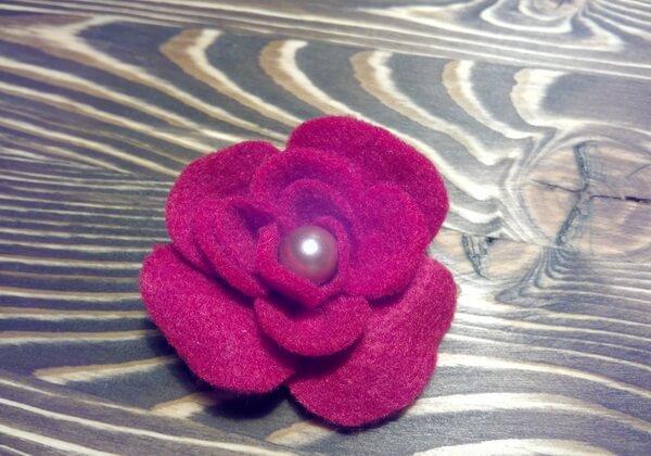 Брошь цветок из фетра своими руками пошагово - шаг 14