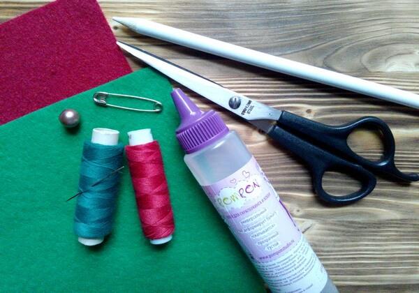 Как сделать брошь из фетра своими руками - инструменты и материалы