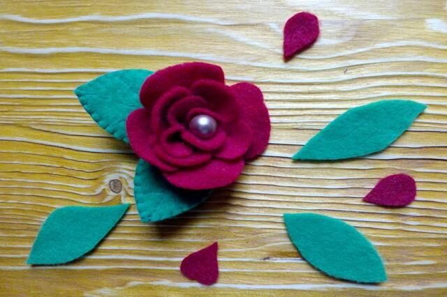 Брошь цветок из фетра своими руками - пошаговый мастер-класс