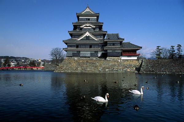 Достопримечательности Японии - замок Мацумото