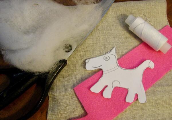 Как сделать чердачную игрушку собаку - шаг 1