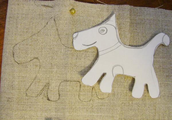 Как сделать чердачную игрушку собаку - шаг 2