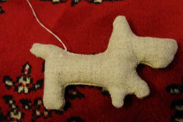 Как сделать чердачную игрушку собаку - шаг 6 и 7