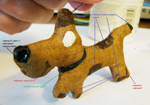 Как сделать чердачную игрушку собаку - шаг 12, 13 и 14