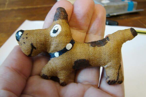 Кофейная игрушка - собака своими руками