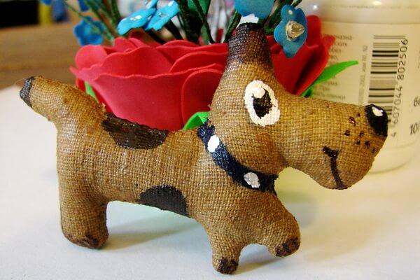 Кофейная игрушка - собака своими руками пошагово