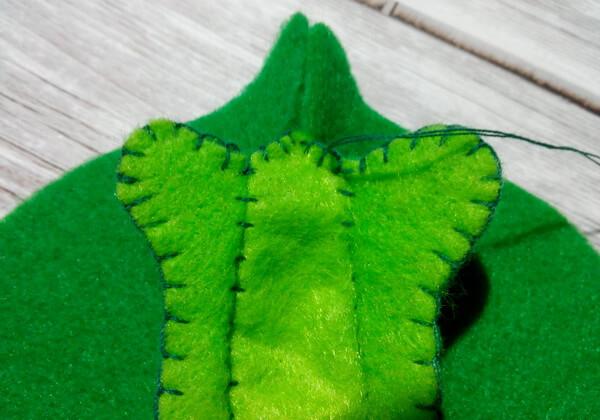 Игольница из фетра своими руками пошагово - шаг 9