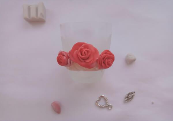 Как сделать декор бокалов из полимерной глины - шаг 8