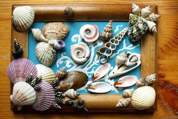 Морские панно из ракушек