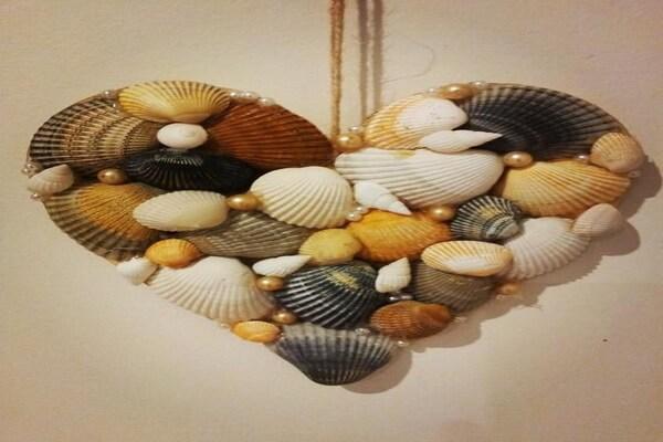 Декор из морских ракушек - Сердце
