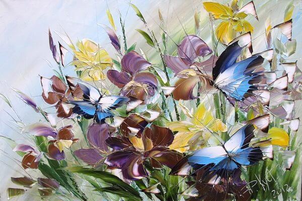 Бабочки в живописи Дмитрия Кустановича