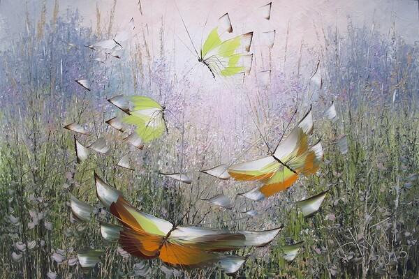 Бабочки мастихином художника Дмитрия Кустановича