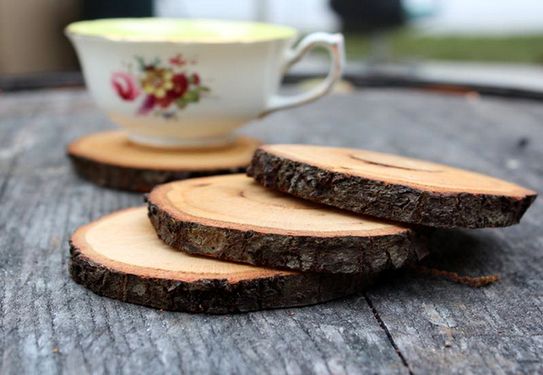 Деревянные подставки под чашки
