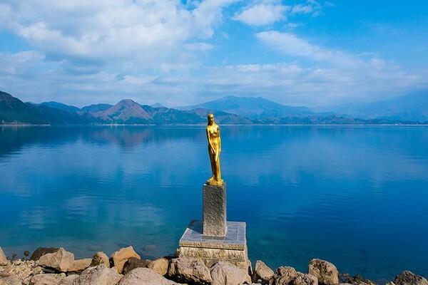 Японская легенда о драконе озера Тадзава