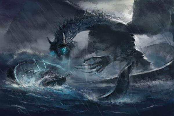 Дракон Рюдзин – хозяин морей из японских мифов