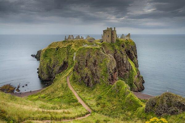 Замок Данноттар в Шотландии - красивые фото