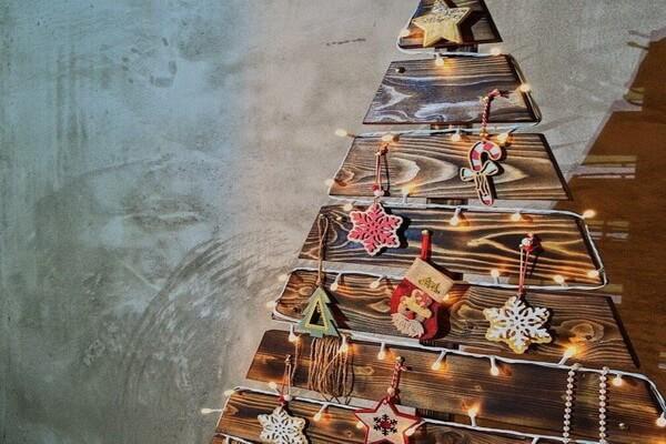 Деревянная ёлка в стиле лофт - Фото и идеи оригинальных конструкций