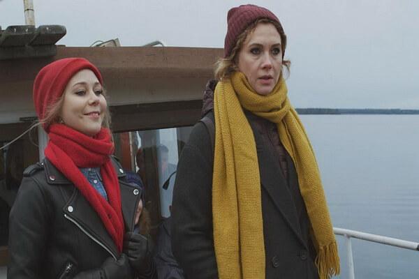 Писательница Агата Север (справа) и ей помощница Маруся