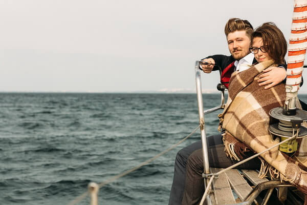 Фотосессия на яхте для влюблённых