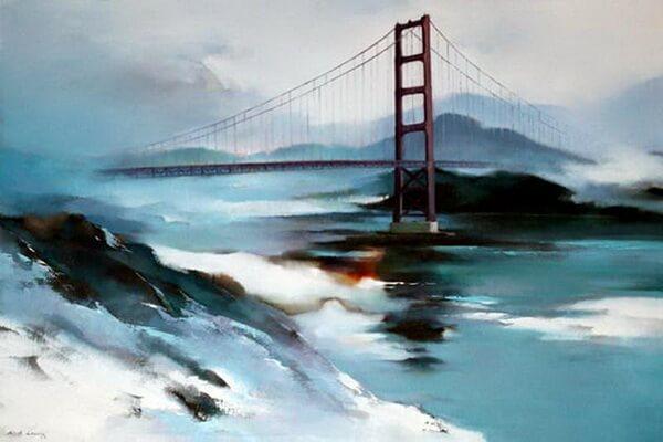 Пейзажи Сан-Франциско в живописи китайского художника Хонг Леунг (Hong Leung)