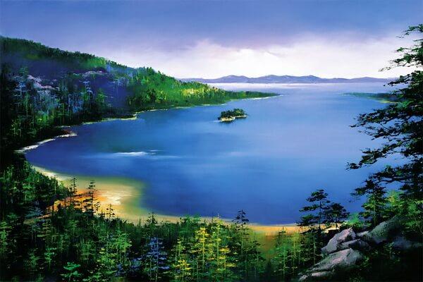 Пейзажи Америки и Европы в живописи китайского художника Хонг Леунг (Hong Leung)