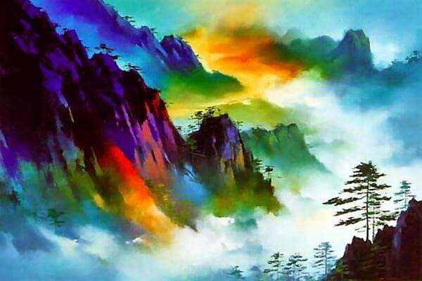 Горные пейзажи Китая в живописи Хонг Леунг (Hong Leung)