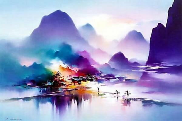 Горы Китая в живописи Хонг Леунг (Hong Leung)