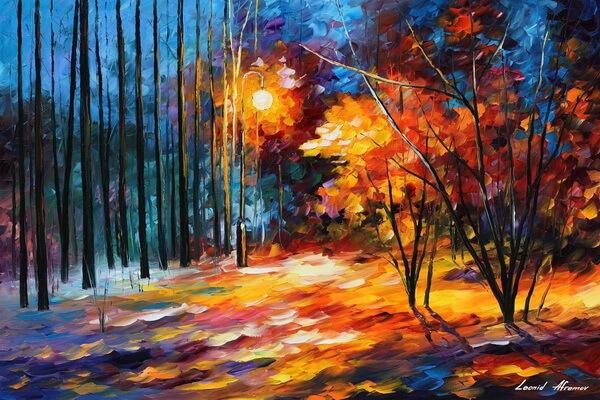 Особенности картин художника Леонида Афремова