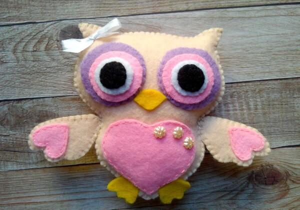Мягкая игрушка - сова из фетра своими руками