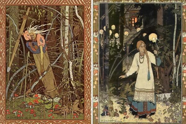 Иллюстрации Ивана Билибина к сказке «Василиса Прекрасная»