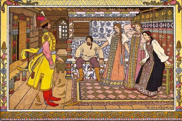 Иллюстрации Ивана Билибина к сказкам - «Иван-царевич добрый молодец и три его сестры»