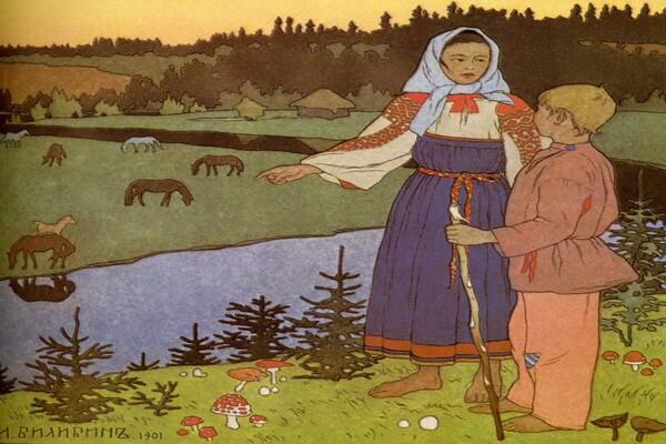 Иллюстрации Ивана Билибина к сказкам - «Сестрица Аленушка и братец Иванушка» (1901)