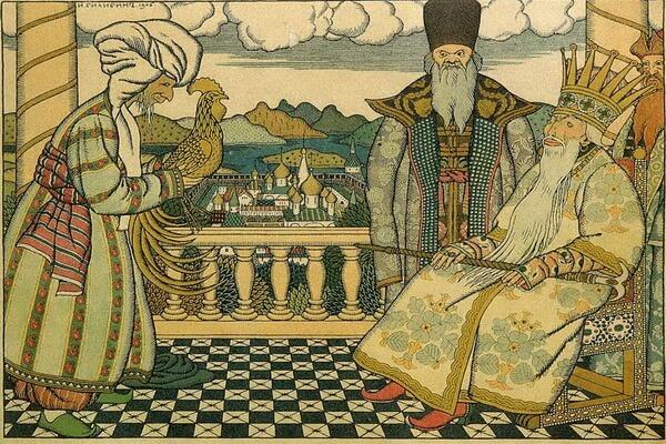 Иллюстрации Ивана Билибина к сказкам - «Звездочёт перед Дадоном» (1906)
