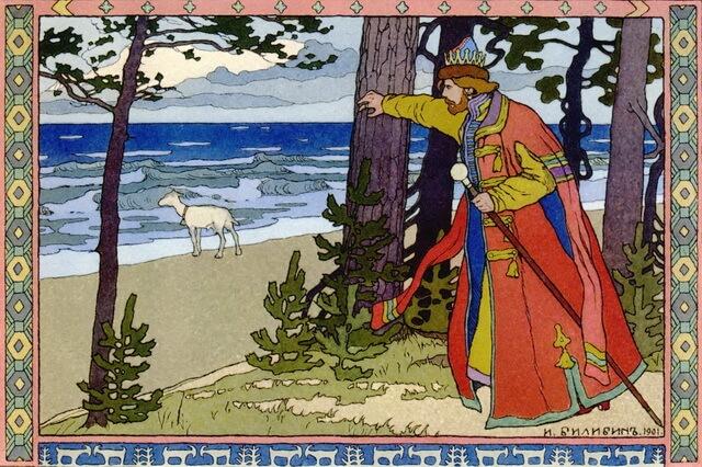 Иллюстрации Ивана Билибина к сказкам - самые известные картины