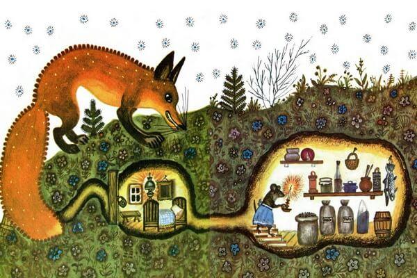 Самые известные иллюстрации к сказкам Юрия Васнецова - Лис и Мышонок