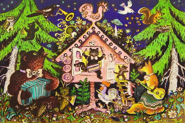 Самые известные иллюстрации к сказкам Юрия Васнецова - Теремок