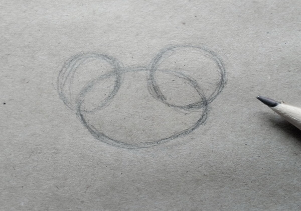 Как нарисовать богомола поэтапно - шаг 1