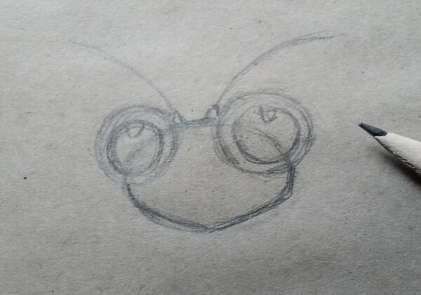 Как нарисовать богомола поэтапно - шаг 2