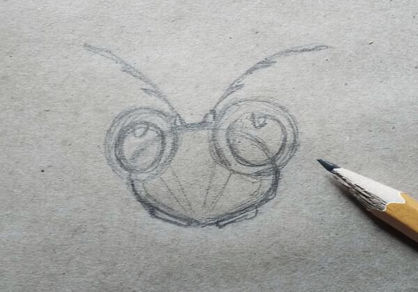 Как нарисовать богомола поэтапно - шаг 3