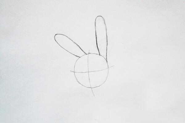 Как нарисовать Джуди Хопс пошагово - шаг 2