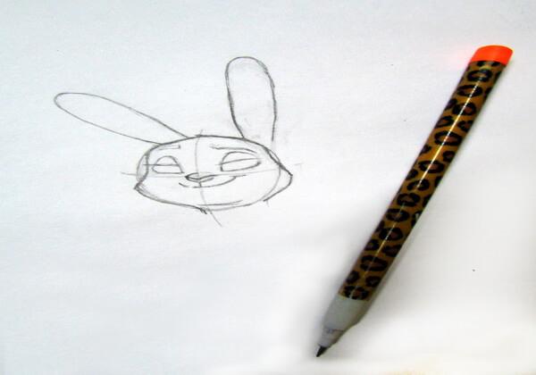 Как нарисовать Джуди Хопс пошагово - шаг 6