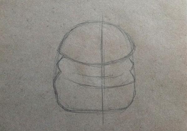 Как нарисовать енота карандашом поэтапно - шаг 2