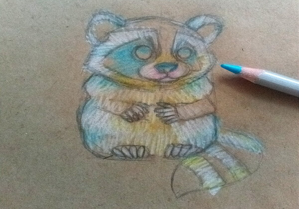 Как нарисовать енота карандашом поэтапно - шаг 7