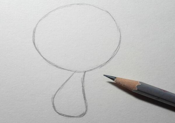 Как нарисовать ёжика из мультика поэтапно - шаг 1